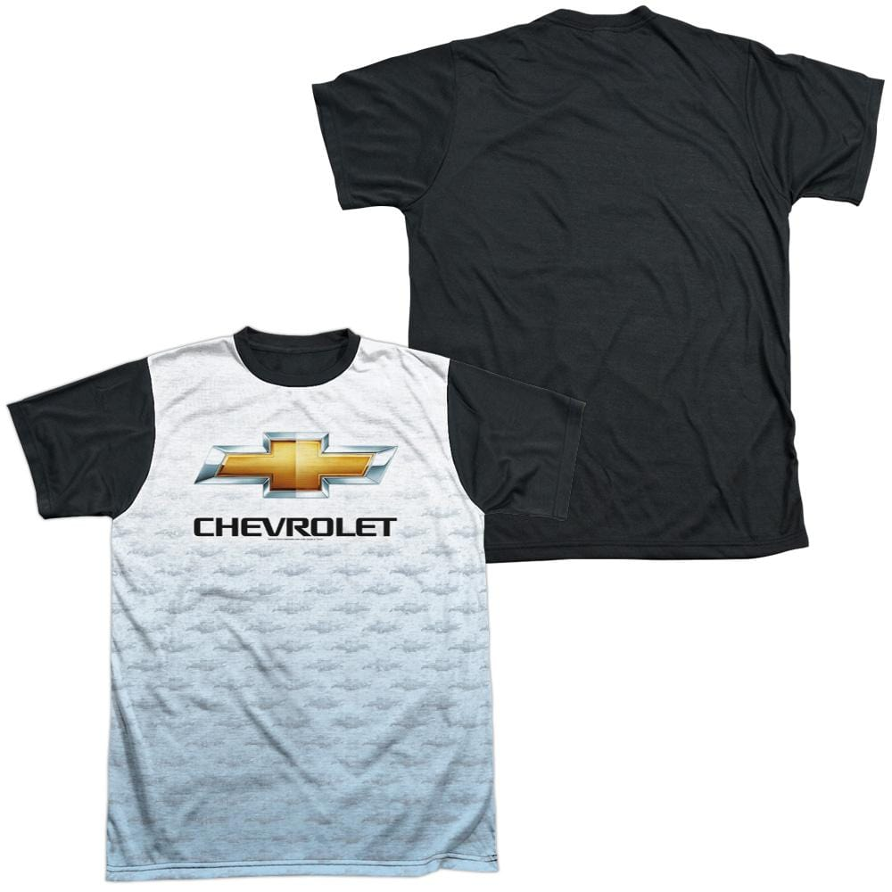 Chevrolet - Logo Repeat Adult Black Back 100% Poly T-Shirt