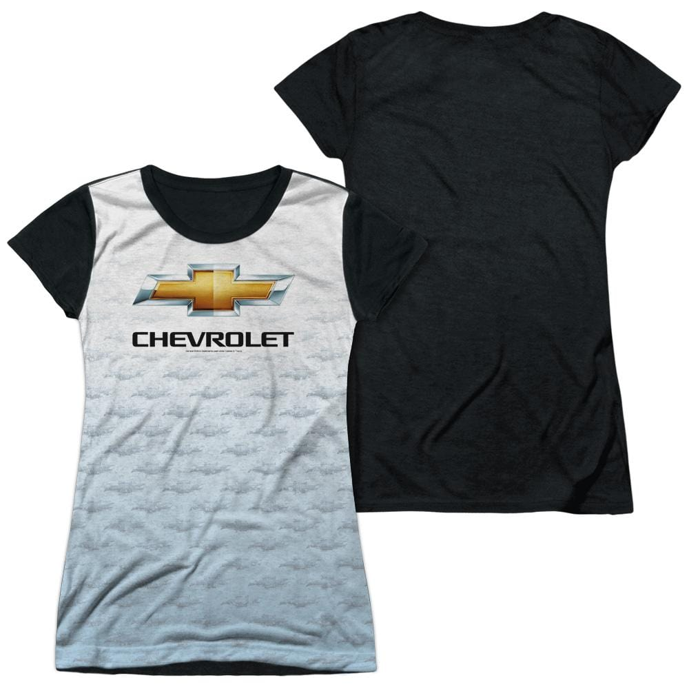 Chevrolet - Logo Repeat Junior All Over Print 100% Poly T-Shirt