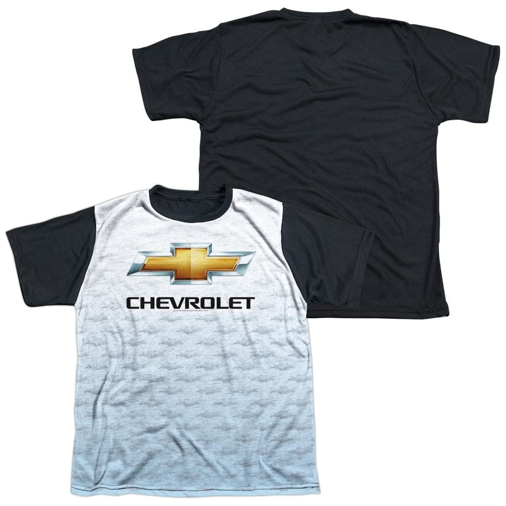 Chevrolet - Logo Repeat Youth Black Back 100% Poly T-Shirt