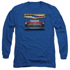 Chevy - 1957 Bel Air Grille Adult Long Sleeve T-Shirt