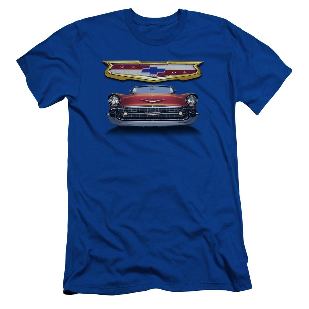 Chevrolet 1957 Bel Air Grille Adult Slim Fit T-Shirt