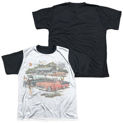 Chevy - Washed Out Youth Black Back 100% Poly T-Shirt