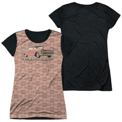 Chevy - Pink And Black Days Junior All Over Print 100% Poly T-Shirt