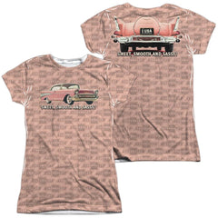 Chevrolet - Pink And Black Days Junior All Over Print 100% Poly T-Shirt
