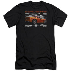 Chevrolet Orange Z06 Vette Premium Adult Slim Fit T-Shirt