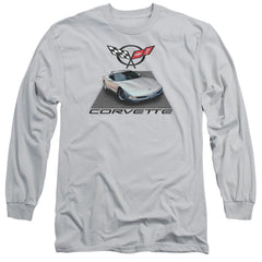 Chevy - Silver 01 Vette Adult Long Sleeve T-Shirt