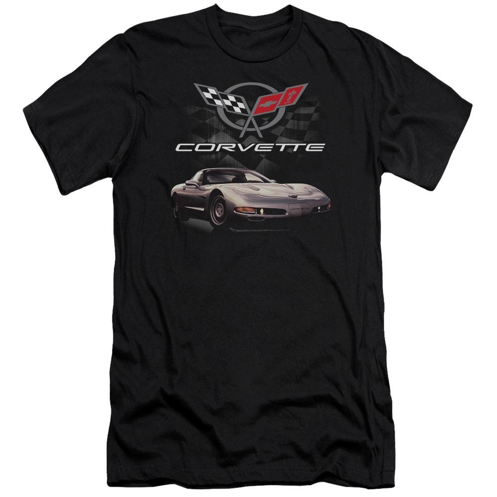Chevrolet Checkered Past Adult Slim Fit T-Shirt