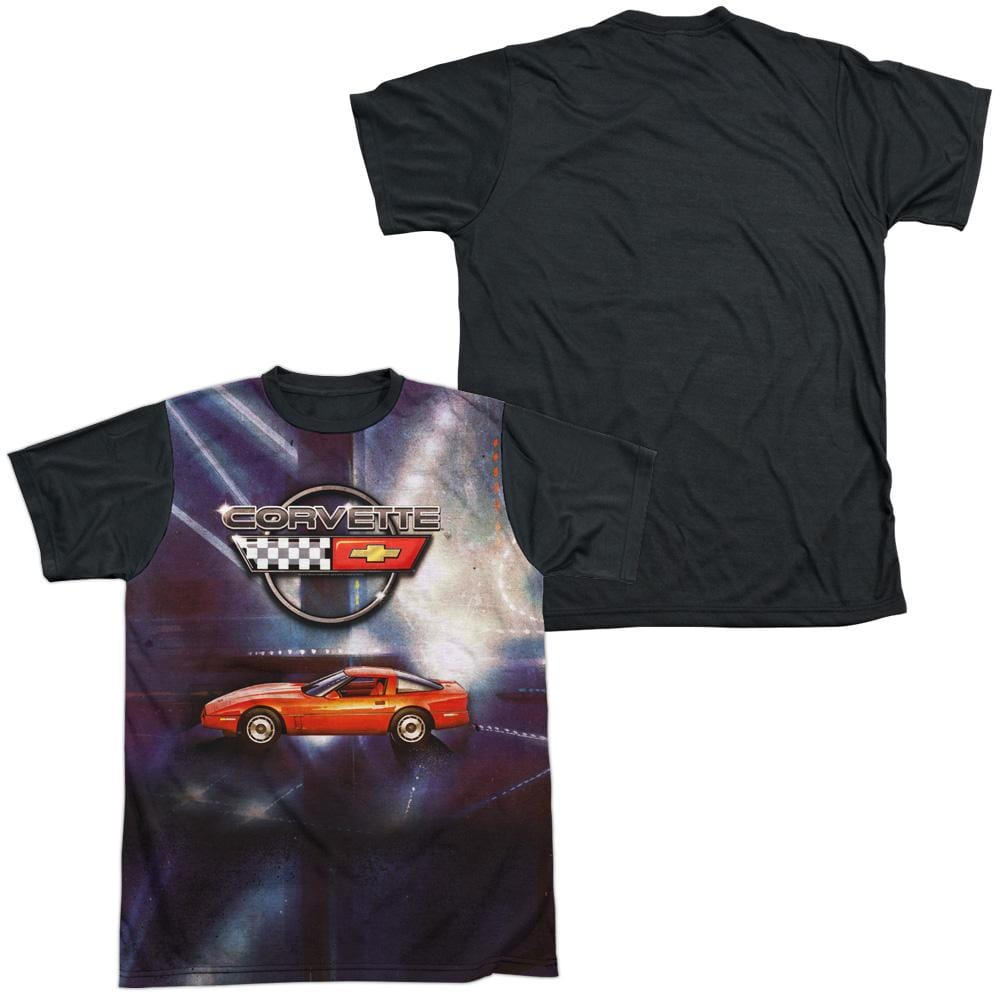 Chevrolet - Lines Of Light Adult Black Back 100% Poly T-Shirt