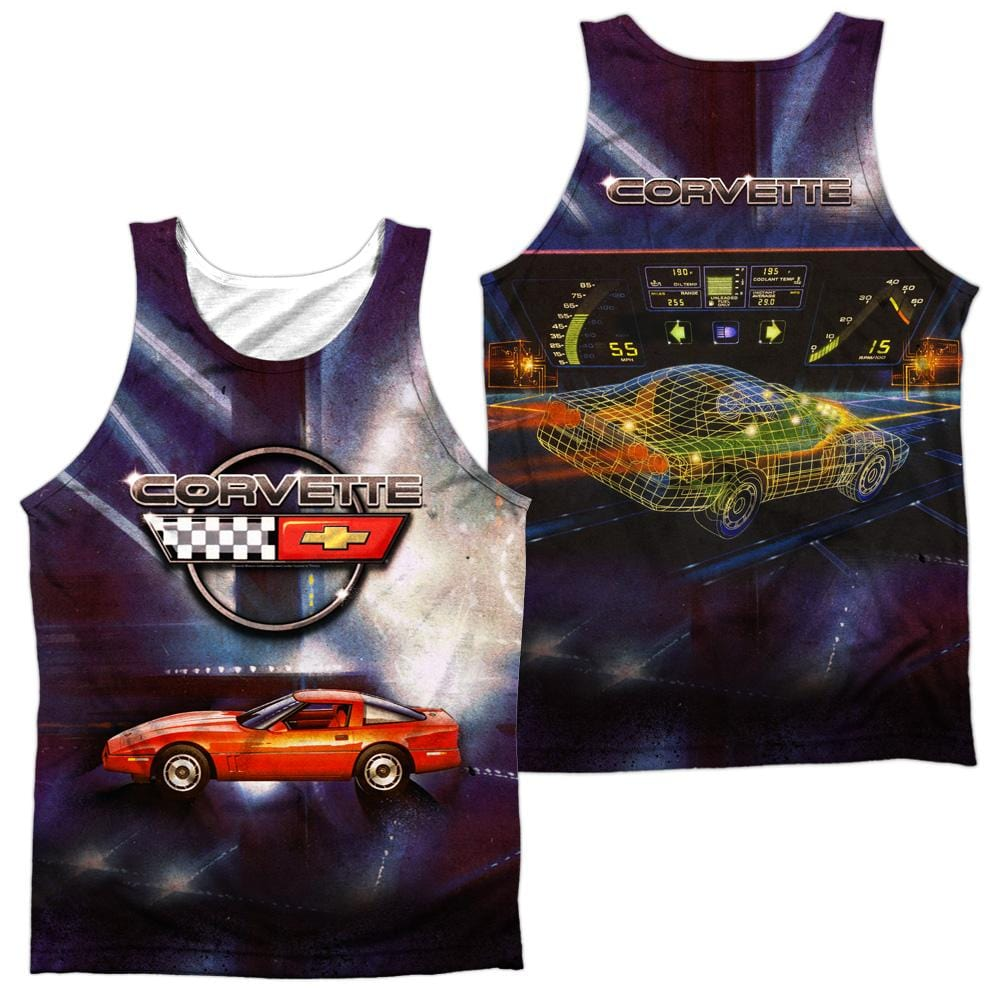 Chevrolet Lines Of Light Adult Tank Top