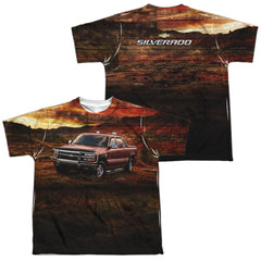 Chevy - Silverado In The Mud Youth All Over Print 100% Poly T-Shirt