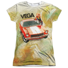 Chevy - Vega Watercolor Junior All Over Print 100% Poly T-Shirt