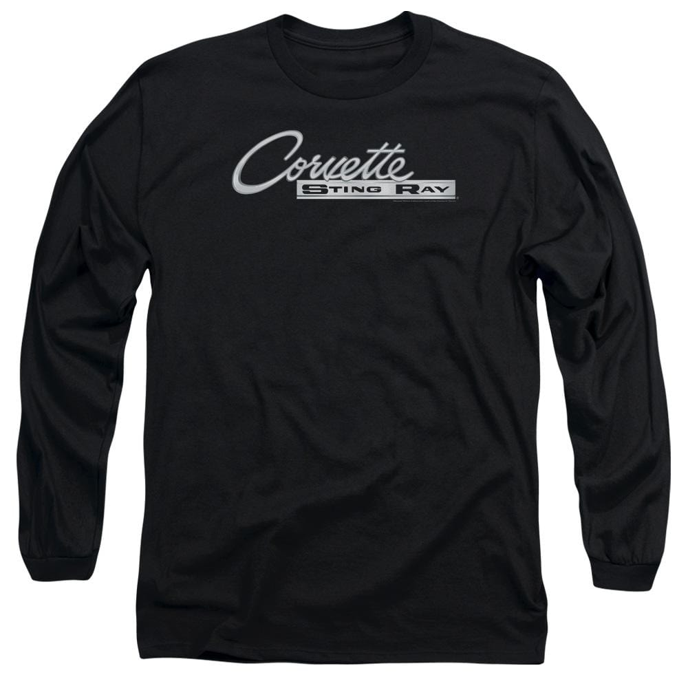 Chevy - Chrome Stingray Logo Adult Long Sleeve T-Shirt