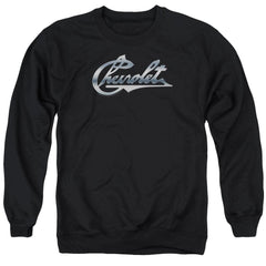 Chevy - Chrome Vintage Chevy Bowtie Adult Crewneck Sweatshirt