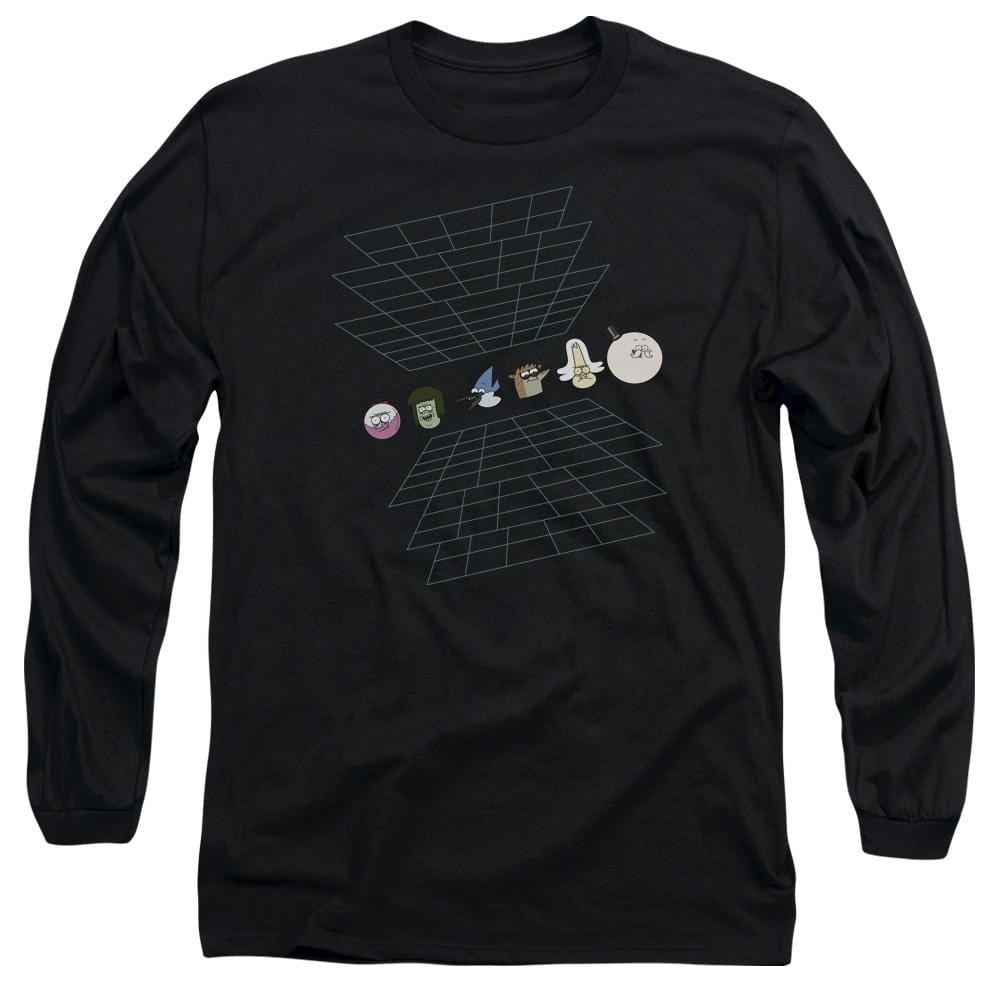 The Regular Show - Regular Grid Adult Long Sleeve T-Shirt