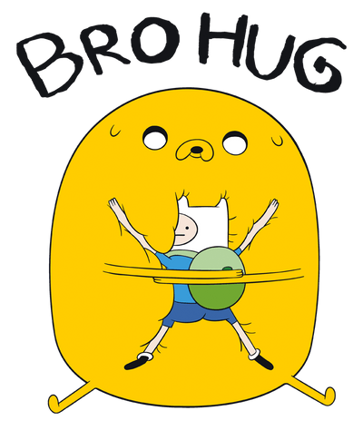 Adventure Time Bro Hug Juniors T-Shirt