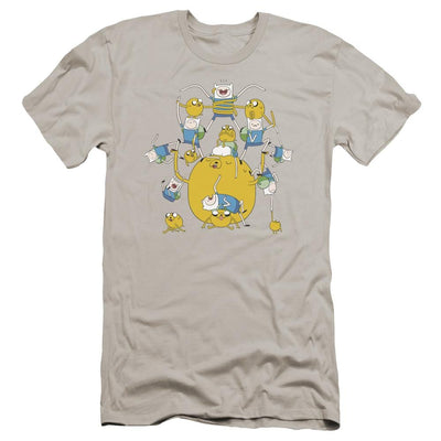 Adventure Time Finn&jake Group Men's Premium Slim Fit T-Shirt