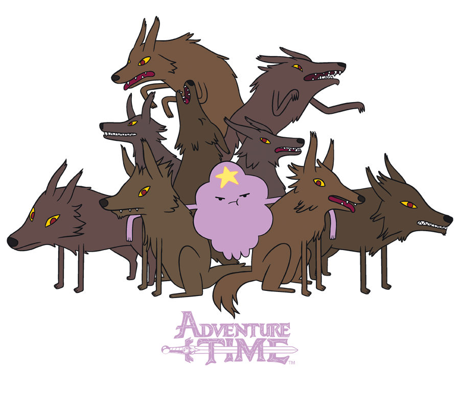 Adventure Time Lsp & Wolves Men's Regular Fit T-Shirt
