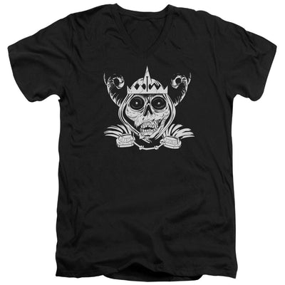 Adventure Time Skull Face Men's V-Neck T-Shirt