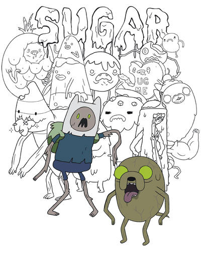 Adventure Time Sugar Zombies Juniors T-Shirt