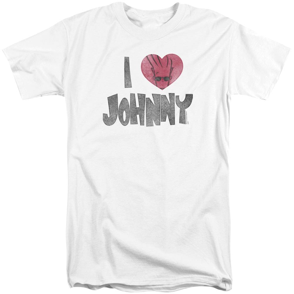 Johnny Bravo - I Heart Johnny Adult Tall Fit T-Shirt