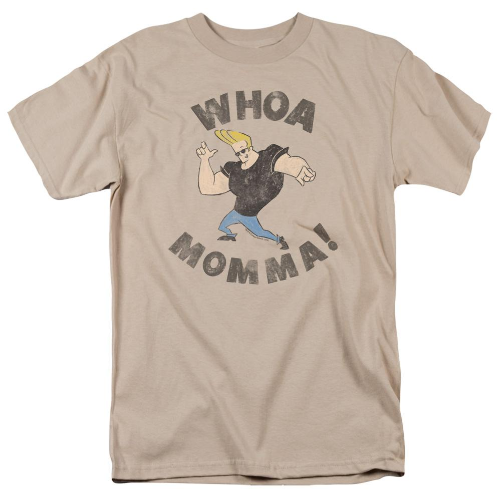 Johnny Bravo Whoa Momma Adult Regular Fit T-Shirt