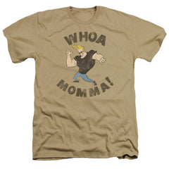Johnny Bravo Whoa Momma Adult Regular Fit Heather T-Shirt