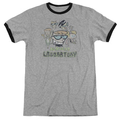 Dexter's Laboratory - Cast Adult Ringer T- Shirt