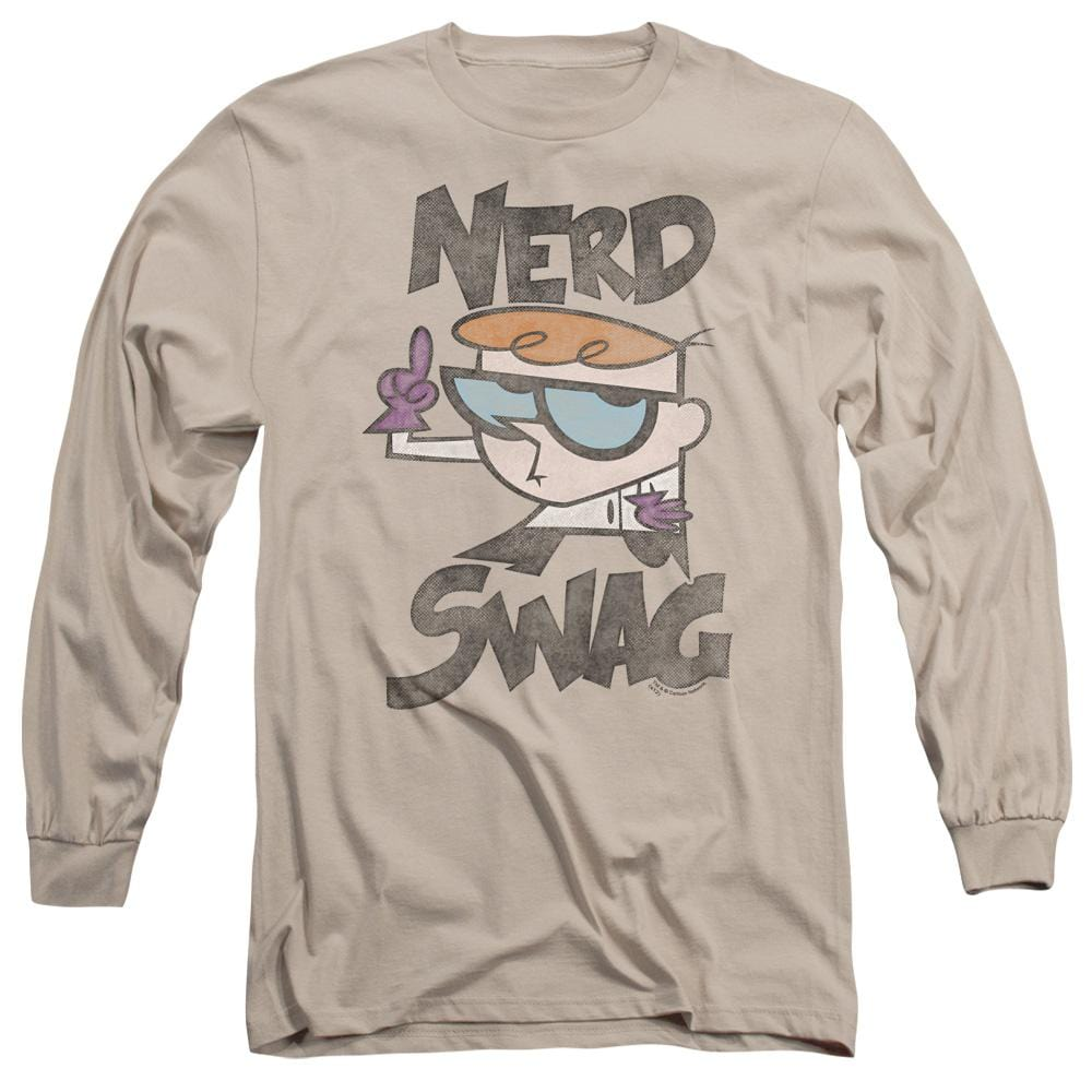 Dexter's Laboratory Nerd Swag Adult Long Sleeve T-Shirt