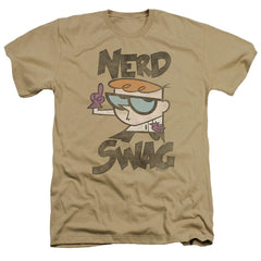 Dexter's Laboratory Nerd Swag Adult Regular Fit Heather T-Shirt