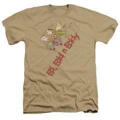 Ed Edd N Eddy Downhill Adult Regular Fit Heather T-Shirt