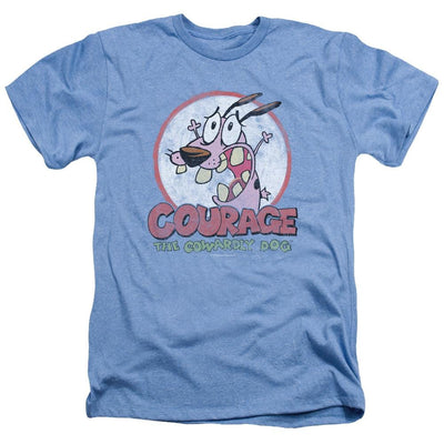 Courage The Cowardly Dog Vintage Courage Men's Heather T-Shirt