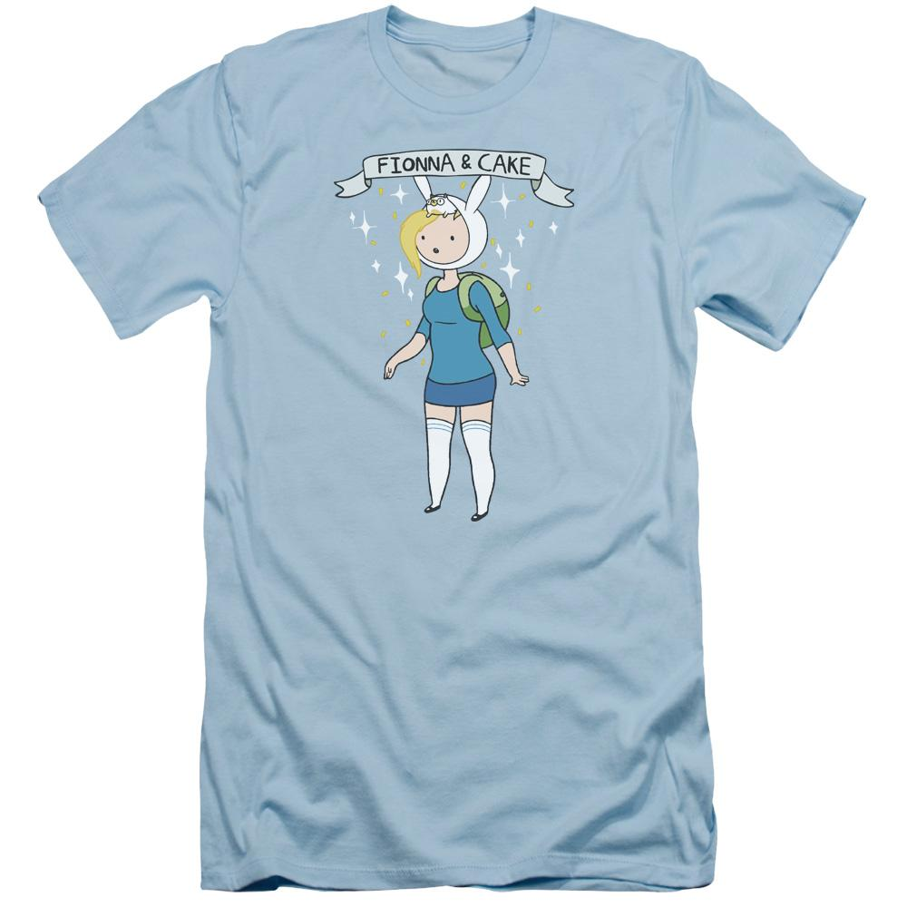 Adventure Time Fionna & Cake Adult Slim Fit T-Shirt