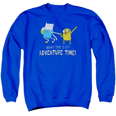 Adventure Time Fist Bump Men's Crewneck Sweatshirt