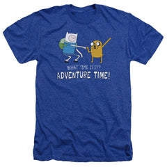 Adventure Time - Fist Bump Adult Regular Fit Heather T-Shirt