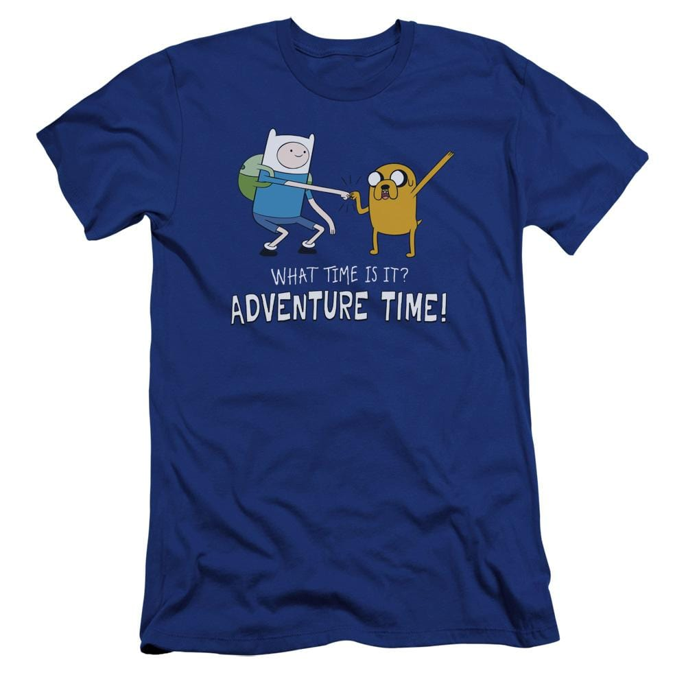 Adventure Time Fist Bump Premium Adult Slim Fit T-Shirt