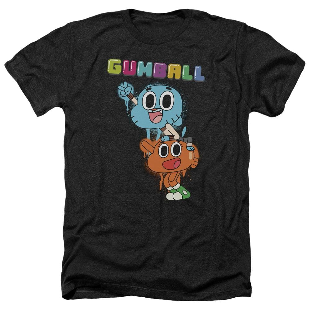 Amazing World Of Gumball - Gumball Spray Adult Regular Fit Heather T-Shirt
