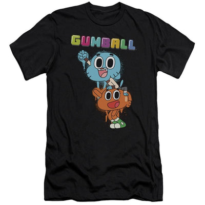 The Amazing World Of Gumball Gumball Spray Men's Slim Fit T-Shirt