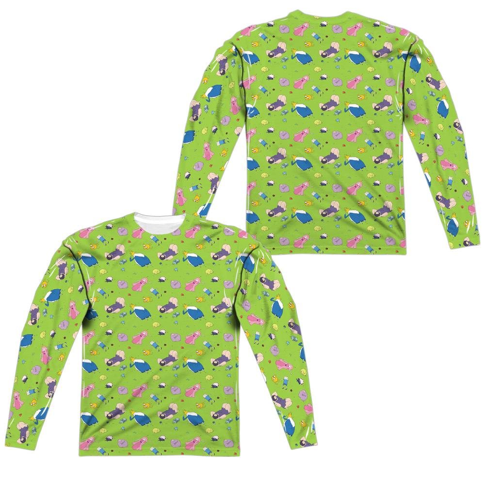 Adventure Time - Green Fields Adult Long Sleeve T-Shirt