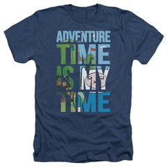 Adventure Time - My Time Adult Regular Fit Heather T-Shirt
