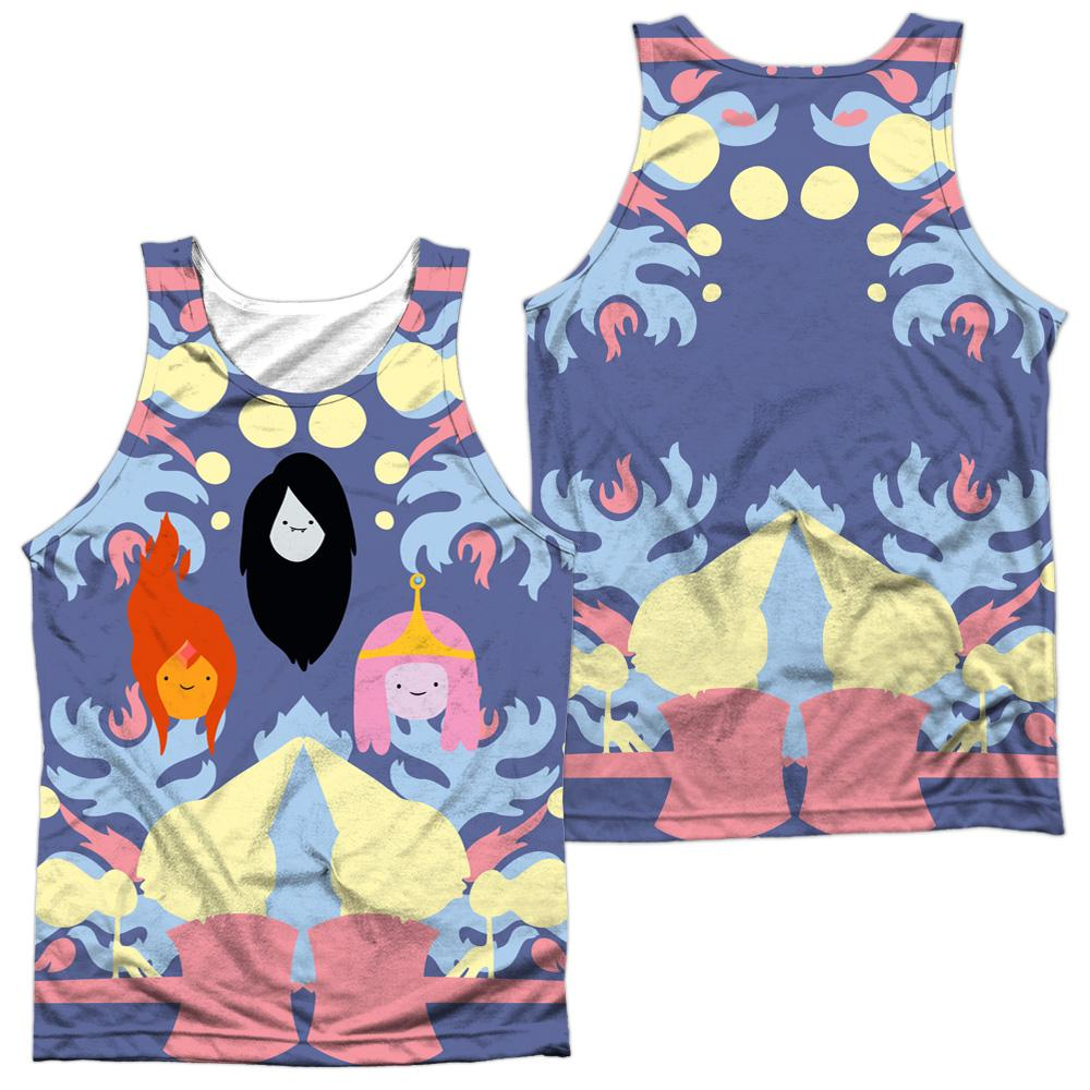 Adventure Time Pb, Fp & Marceline Adult 100% Poly Tank Top