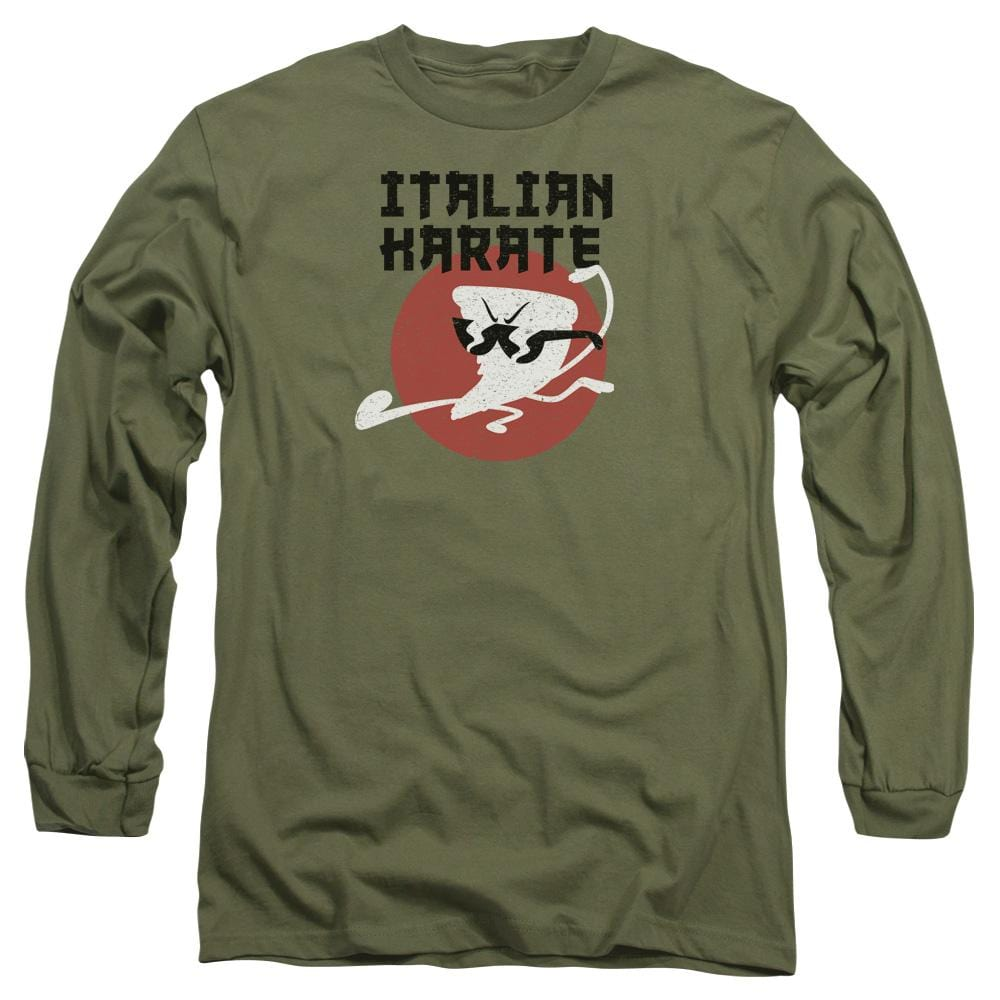 Uncle Grandpa  - Italian Karate Adult Long Sleeve T-Shirt