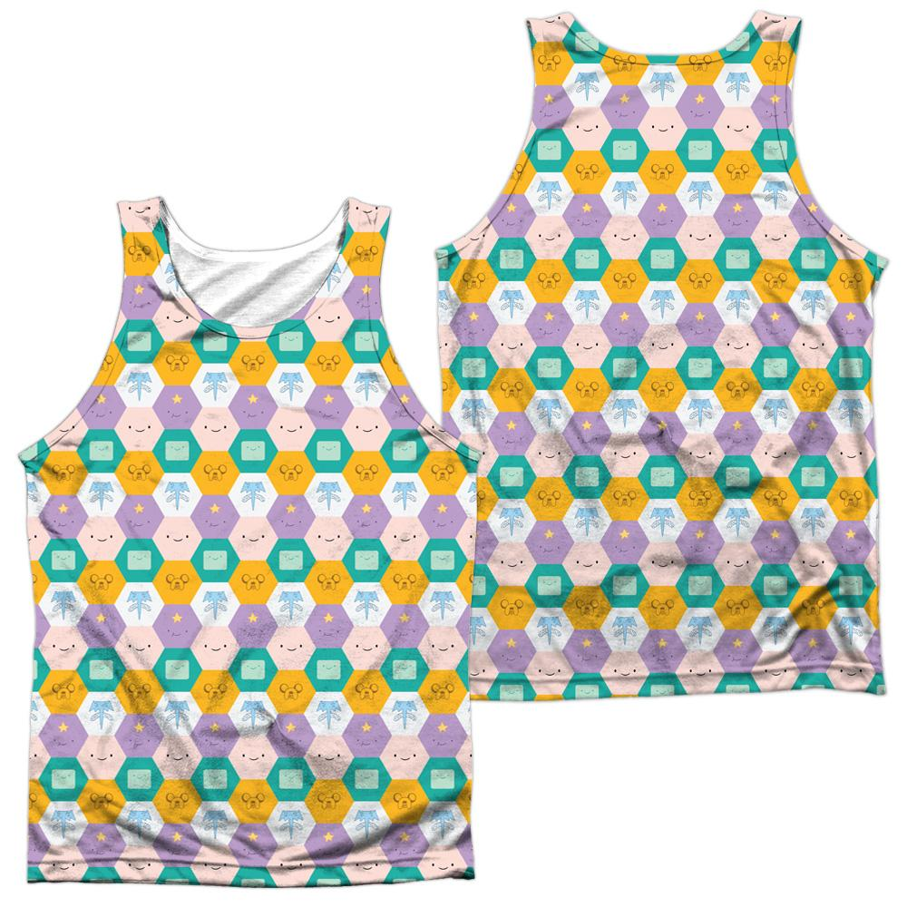 Adventure Time Hexagon Pattern Adult 100% Poly Tank Top