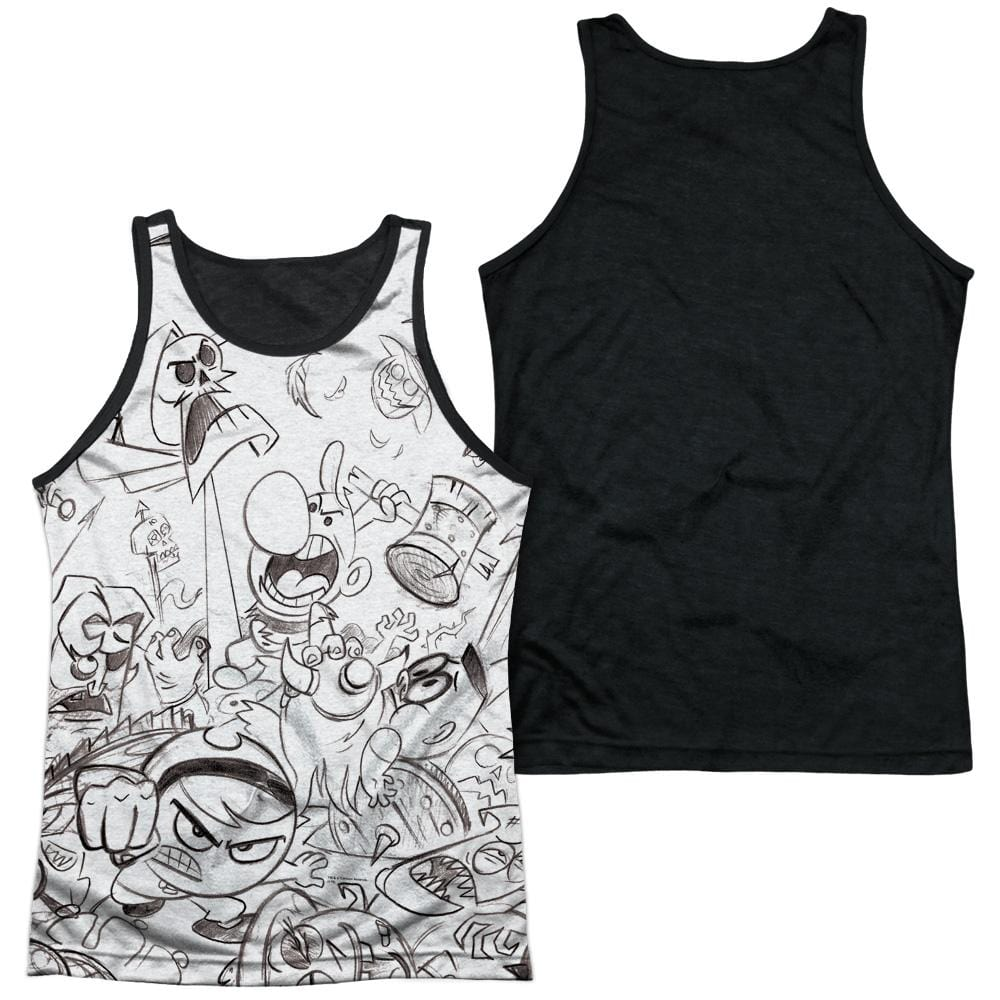 Grim Adventures Of Billy And Mandy - Brawl Adult Tank Top