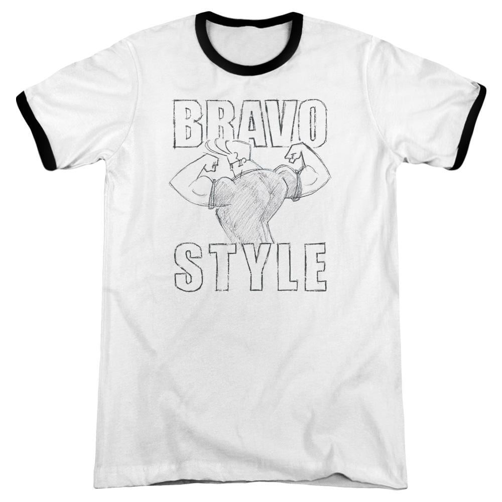 Johnny Bravo - Bravo Style Adult Ringer T- Shirt
