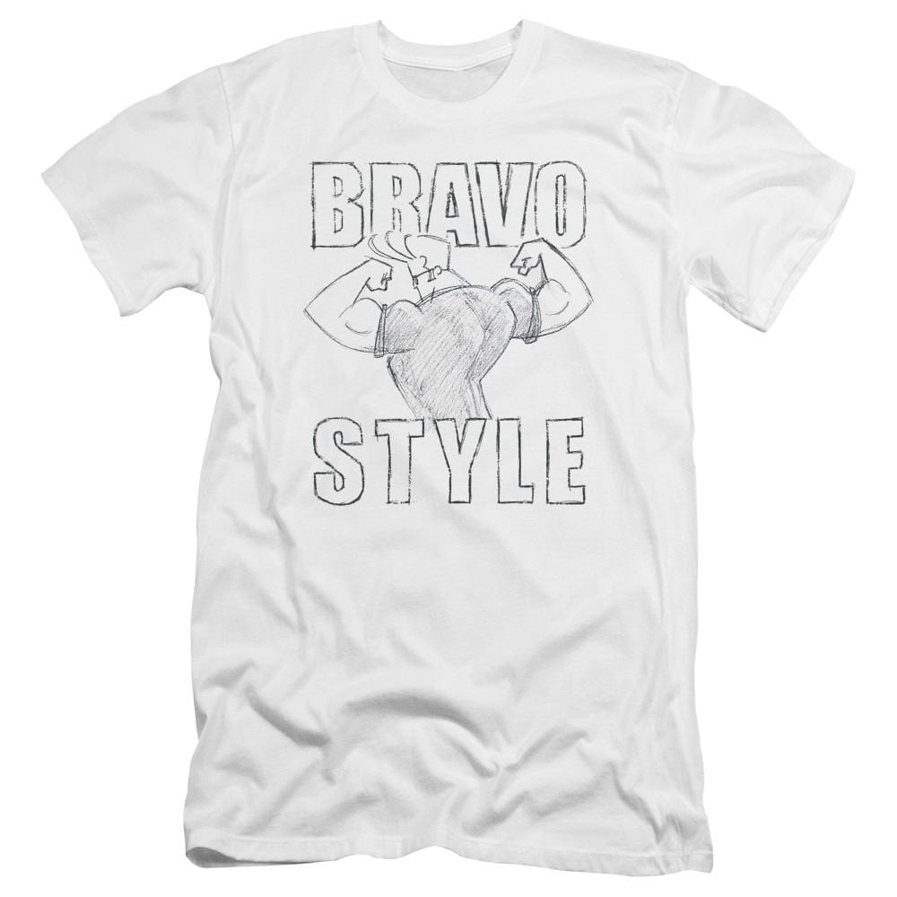 Johnny Bravo Bravo Style Premium Adult Slim Fit T-Shirt