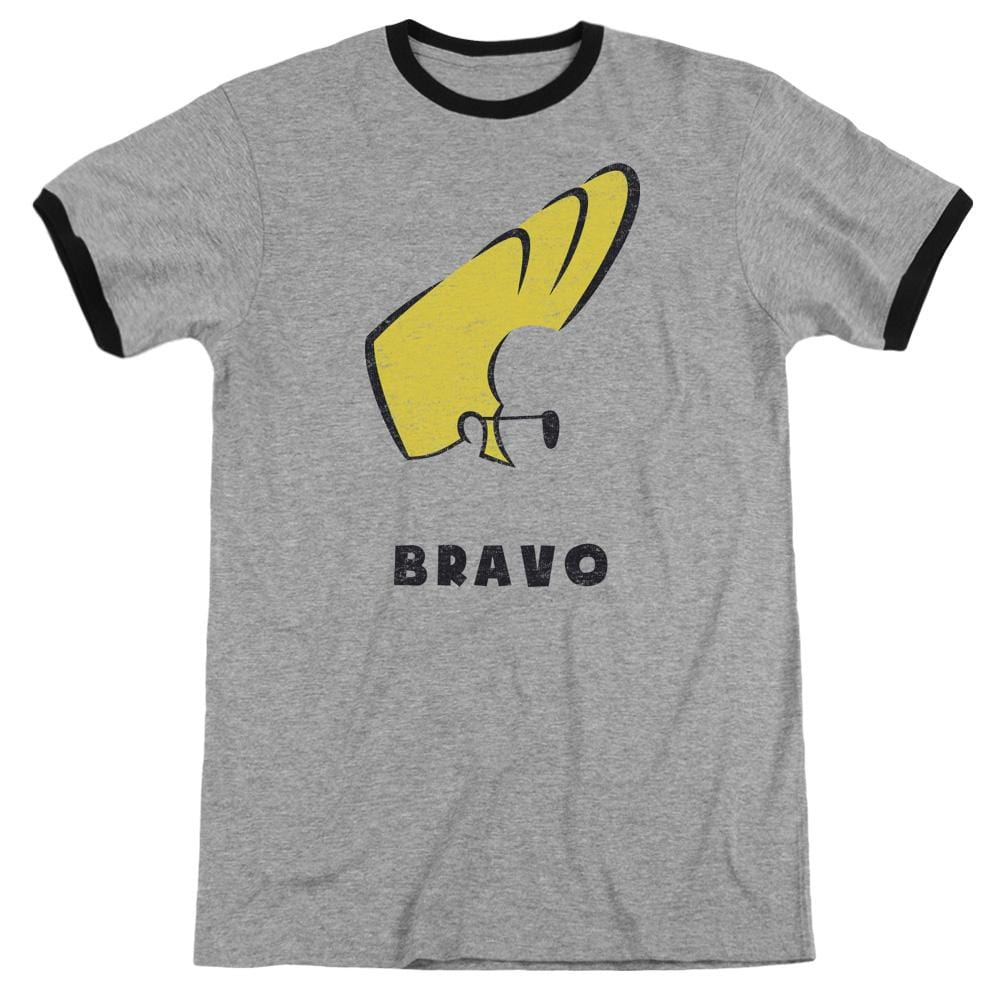 Johnny Bravo - Johnny Hair Adult Ringer T- Shirt