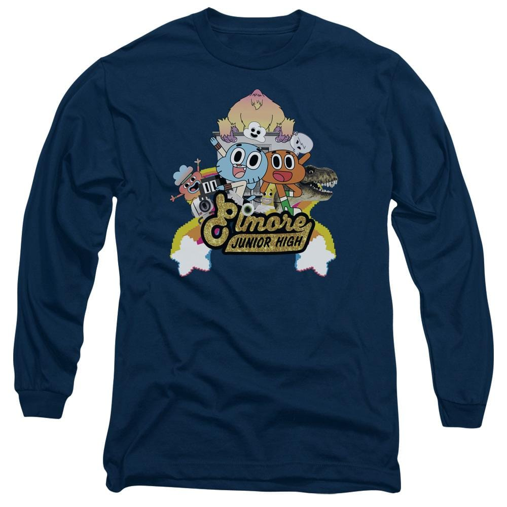 Amazing World Of Gumball - Elmore Junior High Adult Long Sleeve T-Shirt