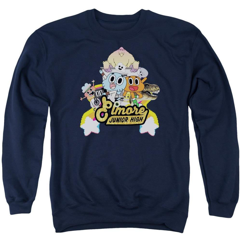Amazing World Of Gumball - Elmore Junior High Adult Crewneck Sweatshirt