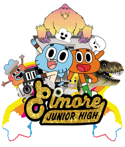 The Amazing World Of Gumball Elmore Junior High Juniors T-Shirt