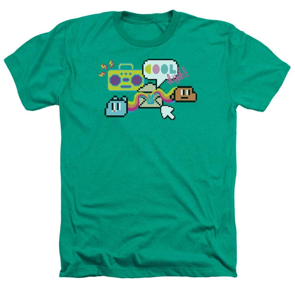 Amazing World Of Gumball - Cool Oh Yeah Adult Regular Fit Heather T-Shirt